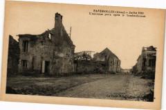Faverolles Julliet 1918 L'ancienne poste le bombardement - Faverolles