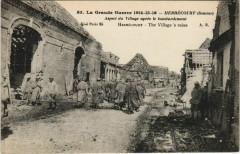 Guerre Military Herbecourt Aspect du village apres le bombardement - Herbécourt