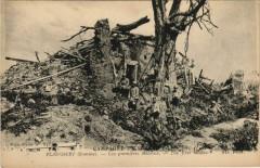Guerre Military Flaucourt Premieres Maisons - Flaucourt