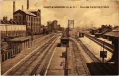 Pont a Vendin-Vue des Lavoire et Gare France - Pont-à-Vendin
