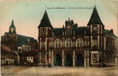 Auxi-le-Chateau Hotel de Ville et Eglise - Auxi-le-Château