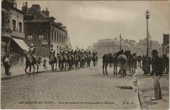 Les Greves du Nord - Une patrouille de Cuirassiers a Denain - Denain