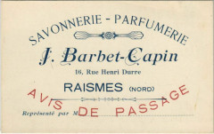 Savonnerie-Parfumerie - Raismes 16, Rue Henri Durre - Raismes