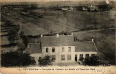 Teteghem - Vue prise du Clocher - Le oulin et l'Ecole des Filles - Hem