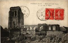 Fressain-Nord Apres la Grande Guerre. Ce qui reste de l'Eglise - Fressain