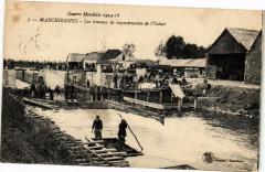 Marchiennes - lES Travaux de Reconstruction de L'Ecluse - Marchiennes