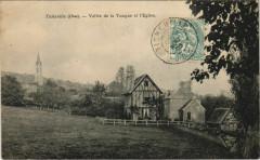 Ticheville Vallee de la Touque et l'Eglise France - Ticheville