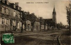 Messei (Orne) -La Grande Rue et l'Eglise - Messei