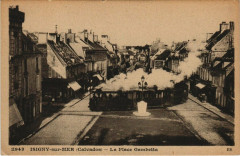 Isigny-sur-Mer - La Place Gambetta Tramway - Isigny-sur-Mer
