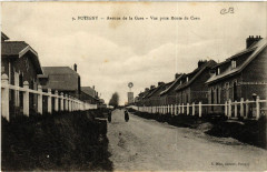 Potigny - Avenue de la Gare - Vue prise Route de Caen - Potigny