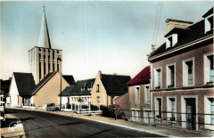 Bretteville-sur-Laize - Rue de La Criquetiere et l'Eglise - Bretteville-sur-Laize