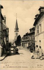 Le Breuil en Auge - La Rue de l'Eglise - Le Breuil-en-Auge