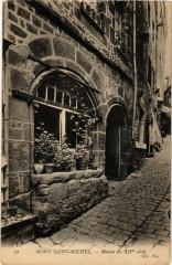 Le Mont Saint-Michel - Maison du XIVe siecle - Le Mont-Saint-Michel