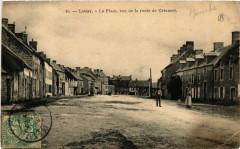 Lessay - La Place - Vue de la route de Créances - Lessay