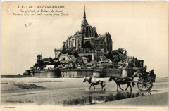 Le Mont Saint-Michel - Vue générale et Voiture de Genéts - Genêts