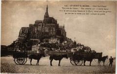 Le Mont Saint-Michel - coté Sud-Ouest - Voitures de Genéts - Genêts