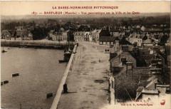 Barfleur - Vue Panoramique sur la Ville et les Quais - Barfleur