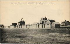 Quineville - Les cabines prises de la Sinope - Quinéville