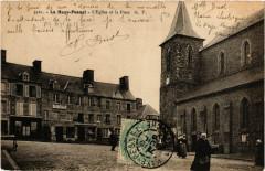 La Haye-Pesnel - Eglise et la Place - La Haye-Pesnel
