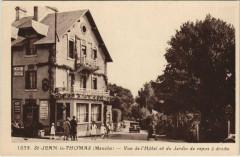 Saint-Jean-le-Thomas - Vue de l'Hotel et du Jardin re repos a droite - Saint-Jean-le-Thomas