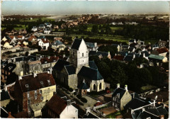 En Avion au-Dessus de Agon-Coutainville - Eglise et - Agon-Coutainville