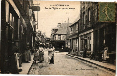 Sourdeval - Rue de l'Eglise et rue Saint-Martin - Sourdeval