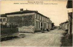 Marson - Le Café Vallery et la Rue du Centre - Marson