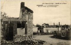 Lenharree Maisons brulées route de Clamanges - Lenharrée