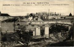 Chapelaine Ensemble du pays detruit par le bomb. - Chapelaine