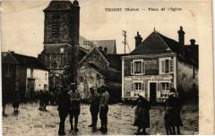Troissy Marne. Place de l'Eglise - Troissy