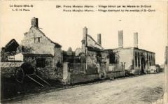 Pierre Morains Marne Village detruit par les Marais de Saint-Gond - Pierre-Morains