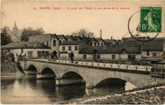 Bayel - Le Pont sur l'Aube et une partie de la verrerie - Bayel