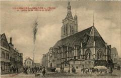 Villenauxe-la-Grande - L'Eglise et l'Arbre de la Liberté en 1848 - Villenauxe-la-Grande