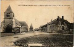 Neuville sur Vanne Place Saint-Martin Aube - Neuville-sur-Vanne