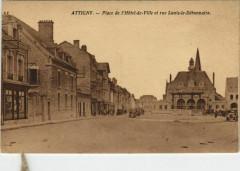 Attigny - Place de l'Hotel de Ville et rue Louis-le-Debonnaire - Attigny