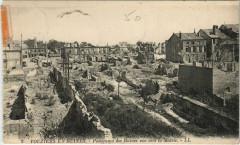 Panorama des Ruines vue vers la Mairie - Vouziers