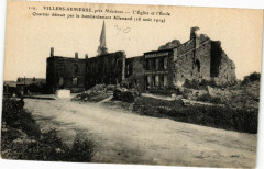 Villers-Semeuse - L'Eglise et l'Ecole - Villers-Semeuse