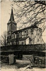 Bartres- La croix et l'Eglise - Bartrès