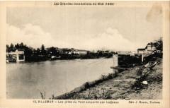 Villemur Les piles du Pont emporte par les eaux - Villemur