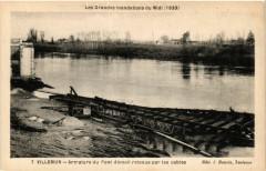 Villemur Armature du Pont demoli retenue par les cables - Villemur