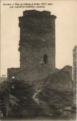 Interieur et Tour du Chateau de Vallon pres Lacroix-Barrez - Lacroix-Barrez