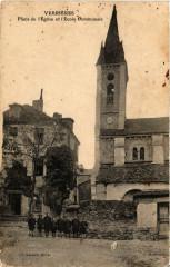 Verriéres-Place de l'Eglise et l'Ecole Communale - Verrières