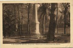 Saint-Jean-du - Bruel - Dans le parc le monument aux Morts - Saint-Jean-du-Bruel