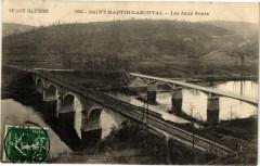 Le Lot Illustre - Saint-Martin-Labouval - Les deux Ponts - Saint-Martin-Labouval