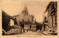 Marsac (T.-et-G.) - L'Eglise du Xv siecle et la Place - Marsac