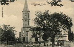 Montgaillard (T.-et-G.) - L'Eglise et Place - Montgaillard