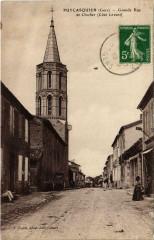 Puycasquier - Grande Rue et Clocher - Puycasquier