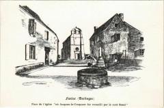 Fanlac - Place de l'Eglise - Fanlac