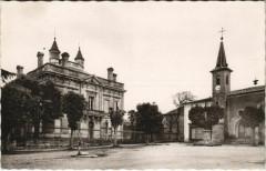 Villefranche-de-Lonchat - La Place et l'Hotel de Ville - Villefranche-de-Lonchat