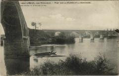 Limeuil - pres Perigueux - Pont sur la Vezere et la Dordogne - Limeuil